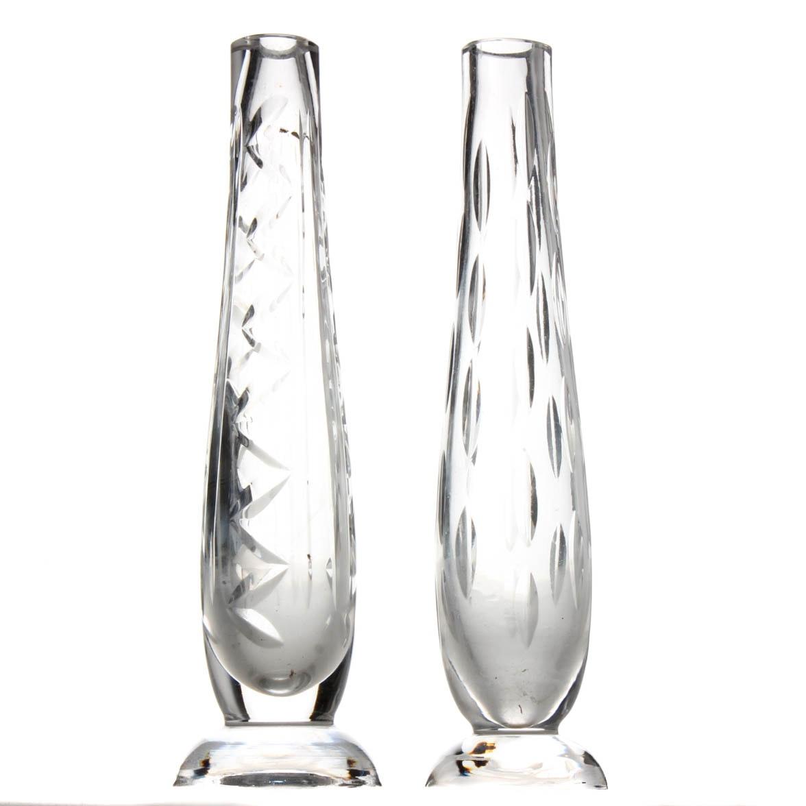 Waterford Crystal Stem Vase Pair