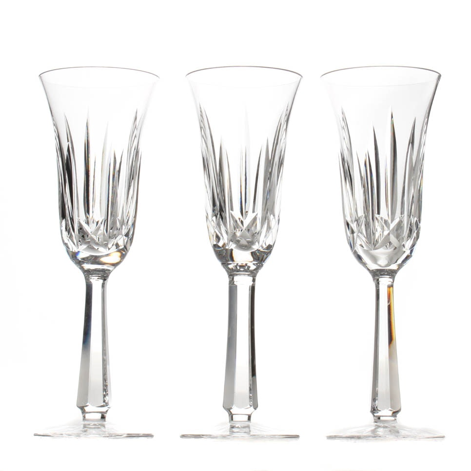 "Waterford Crystal ""Ballyshannon"" Champagne Flutes"