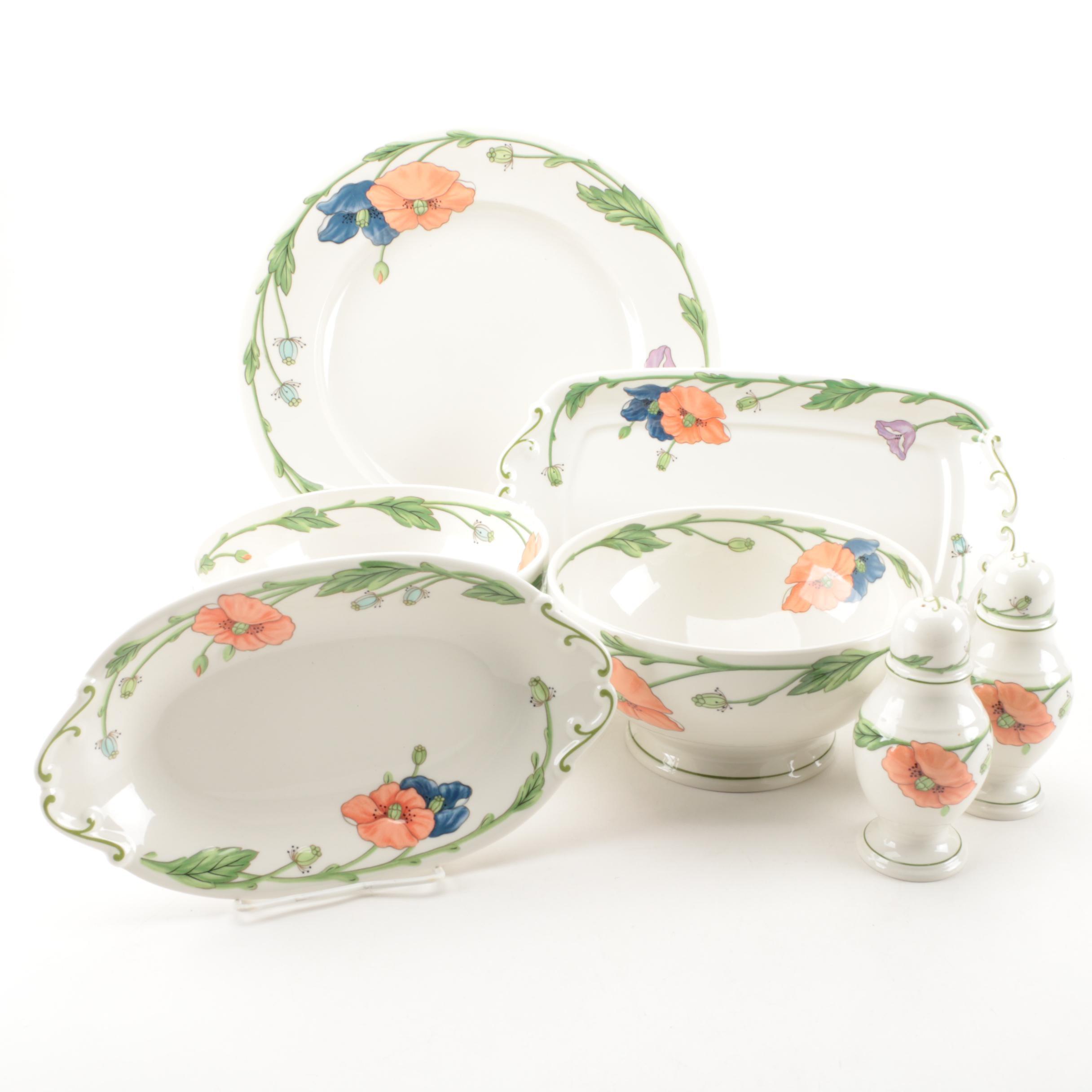 "Villeroy & Bach ""Amapola'"" Porcelain Serveware"