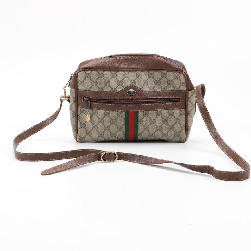fdb66f16198 Vintage Gucci GG Supreme Canvas Bag   EBTH