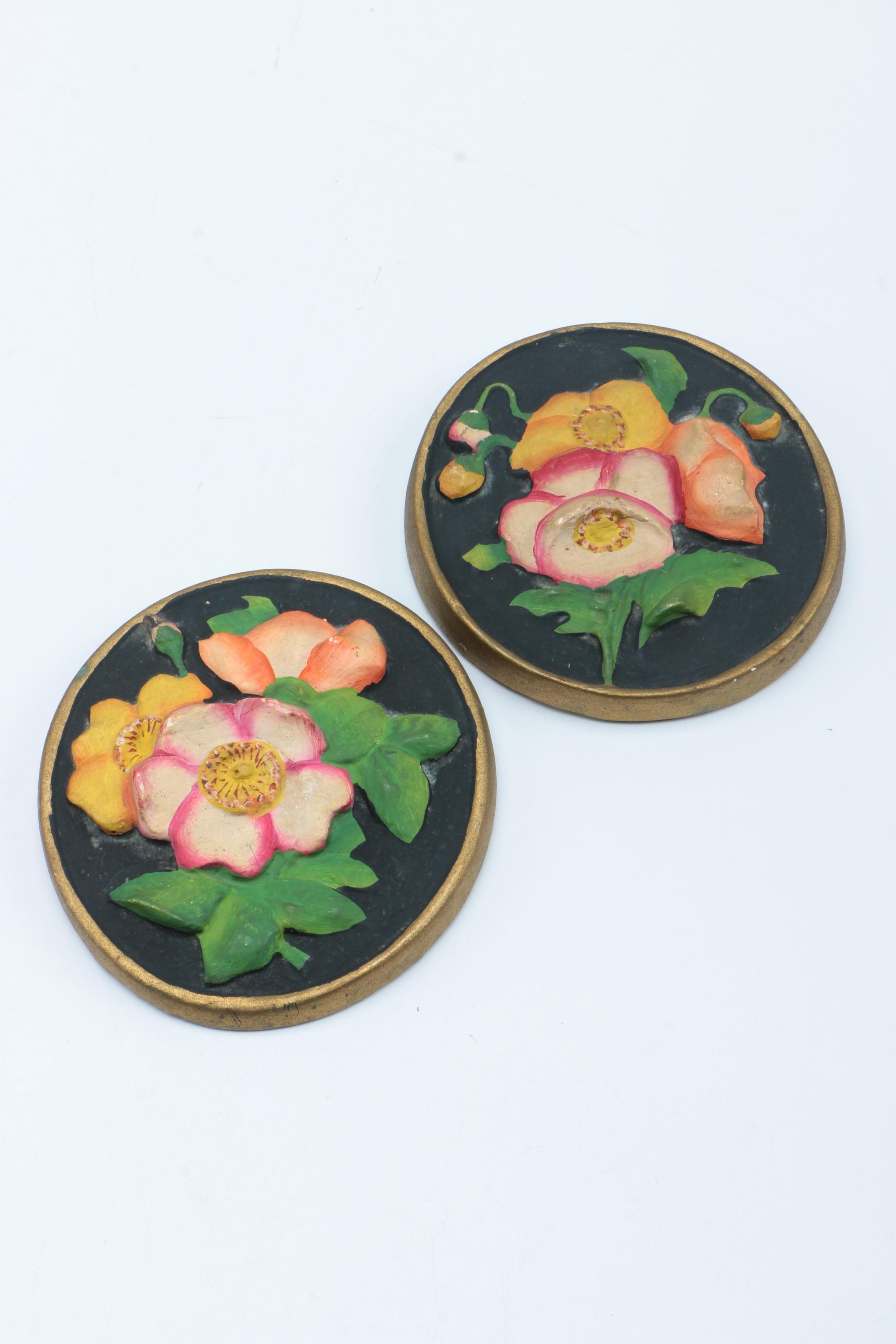 Floral Ceramic Wall Hangings