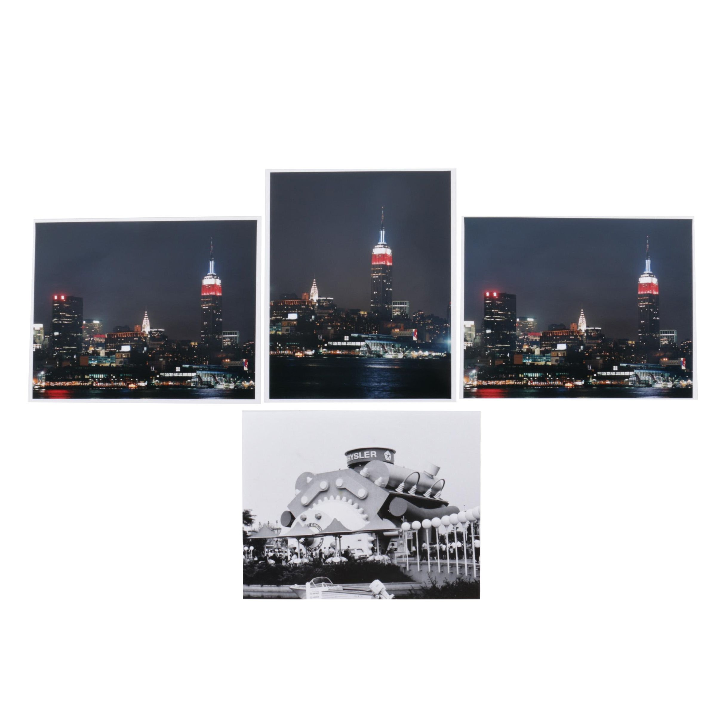 Digital Photographs of New York Skyline and a Chrysler Engine