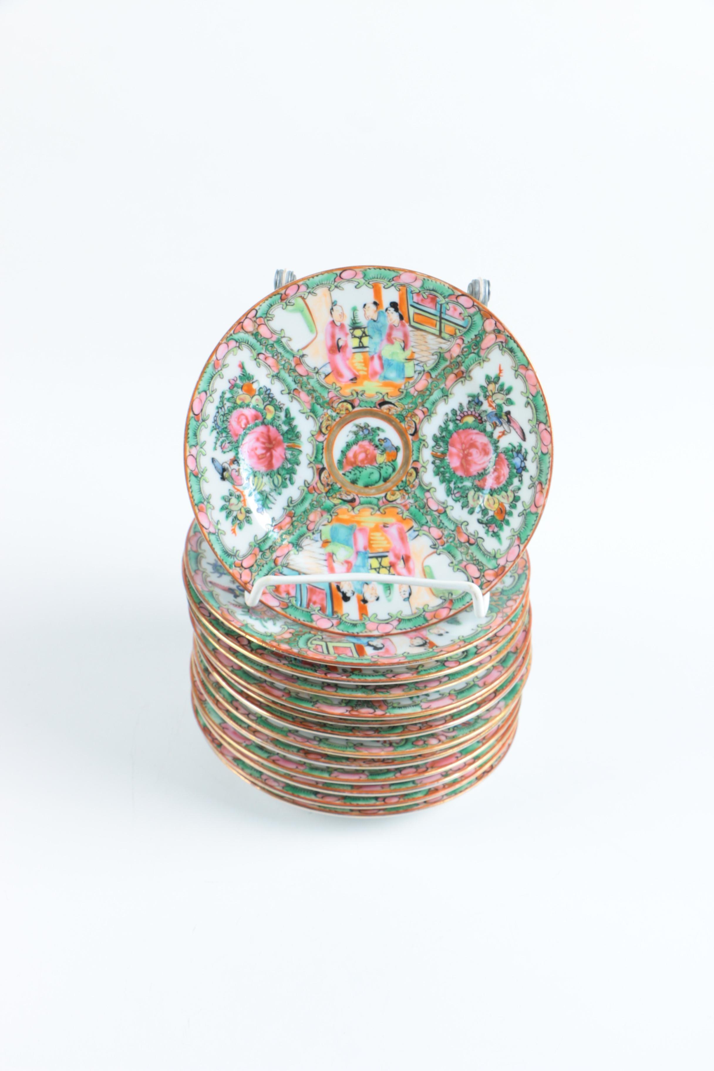 Chinese Rose Medallion Plates