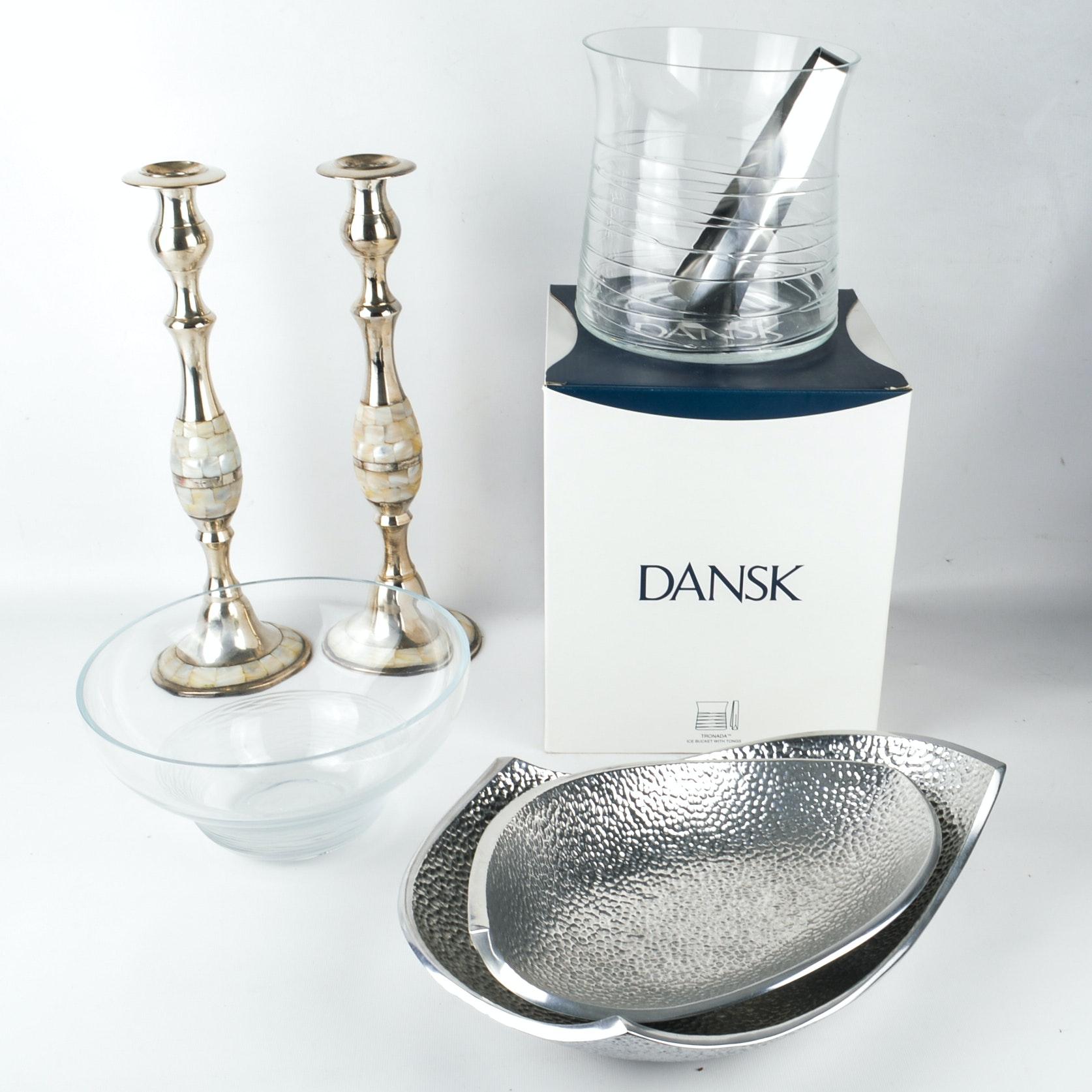 Dansk Glass and Metal Tableware