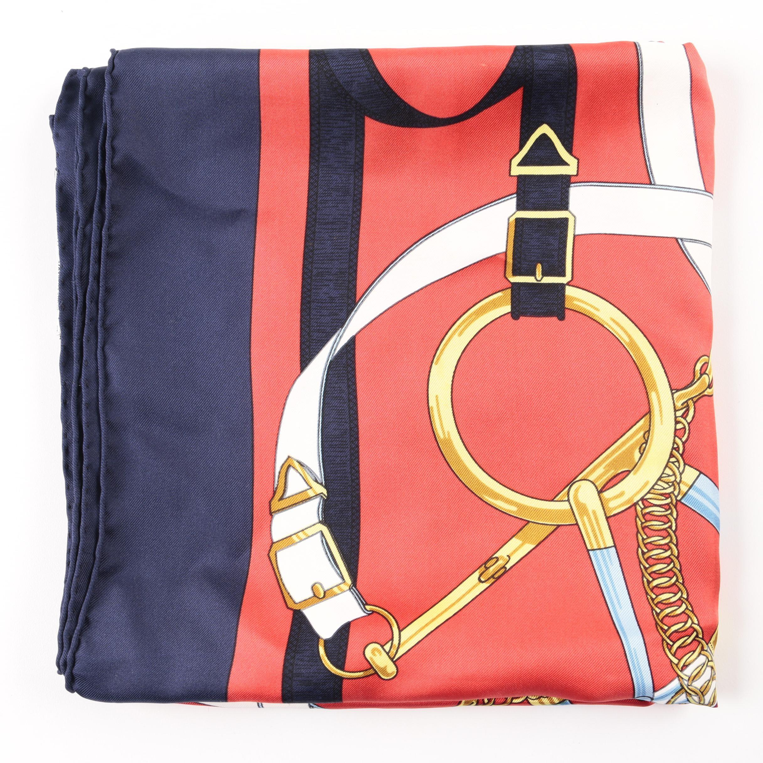"Hermès ""Eperon d'Or"" Silk Scarf"
