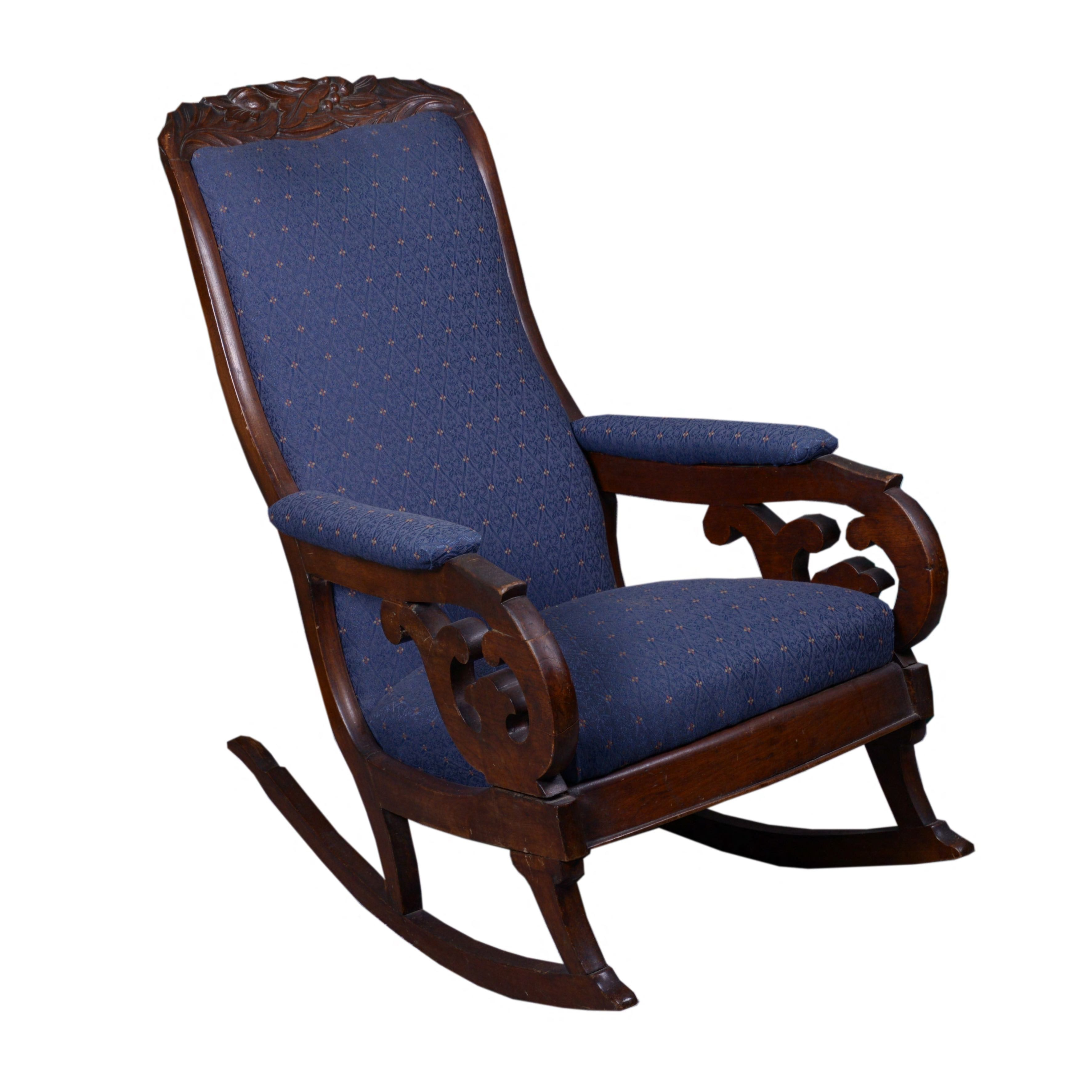 """Early Victorian """"Lincoln"""" Rocking Chair"""