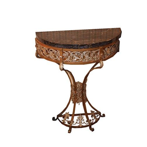 Italian Rococo Style Semi Circle Console Table ...