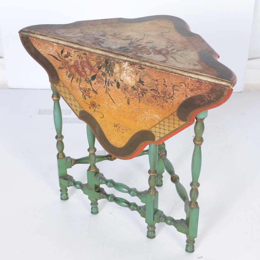 Vintage handkerchief drop leaf gate leg table ebth vintage handkerchief drop leaf gate leg table watchthetrailerfo