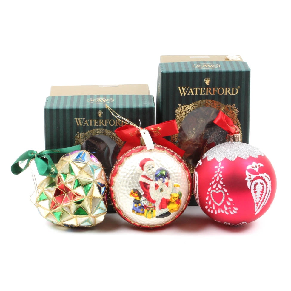 Waterford Hand-Blown Glass Ornaments