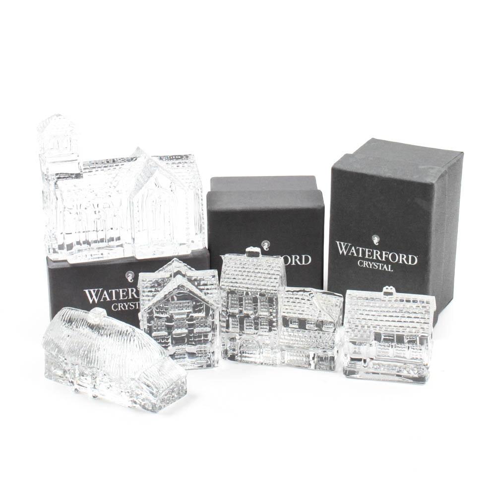"""Waterford Crystal """"Lismore Village"""" Figurines"""
