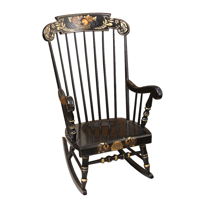 Miraculous Stenciled Virginia House Rocking Chair Gmtry Best Dining Table And Chair Ideas Images Gmtryco