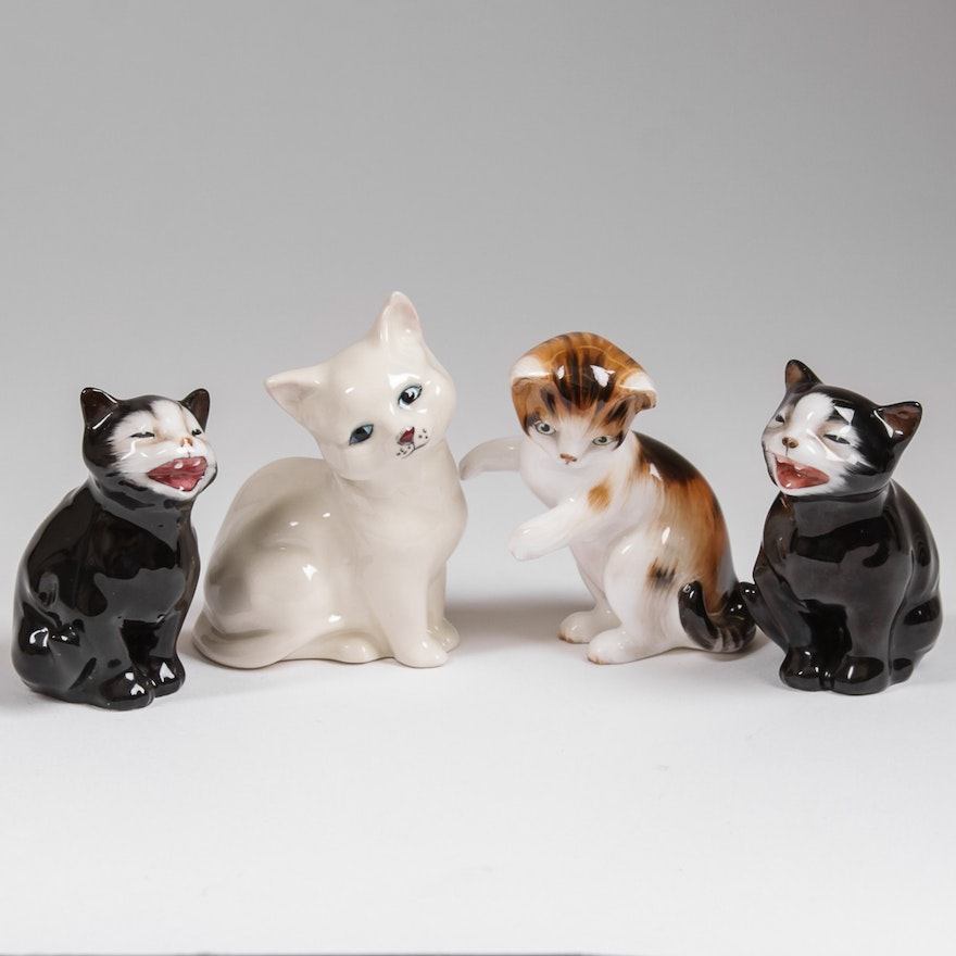 Royal Doulton Cat Figurines For Sale