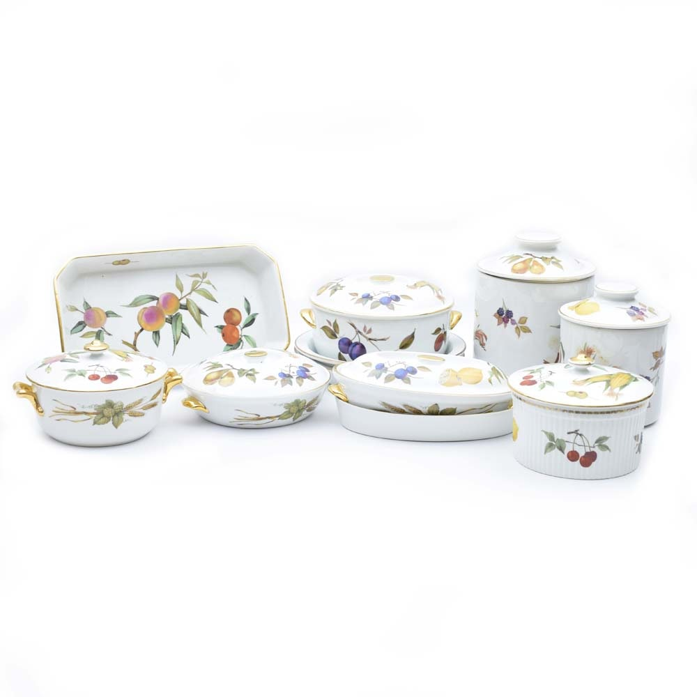Royal Worcester \ Evesham Gold\  Flameproof Porcelain Oven to Table Serveware ...  sc 1 st  EBTH.com & Royal Worcester \