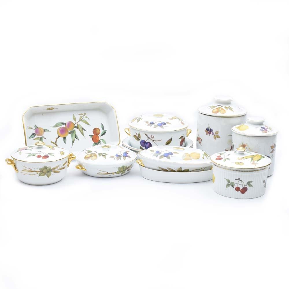Royal Worcester \ Evesham Gold\  Flameproof Porcelain Oven to Table Serveware ...  sc 1 st  EBTH.com & Royal Worcester \