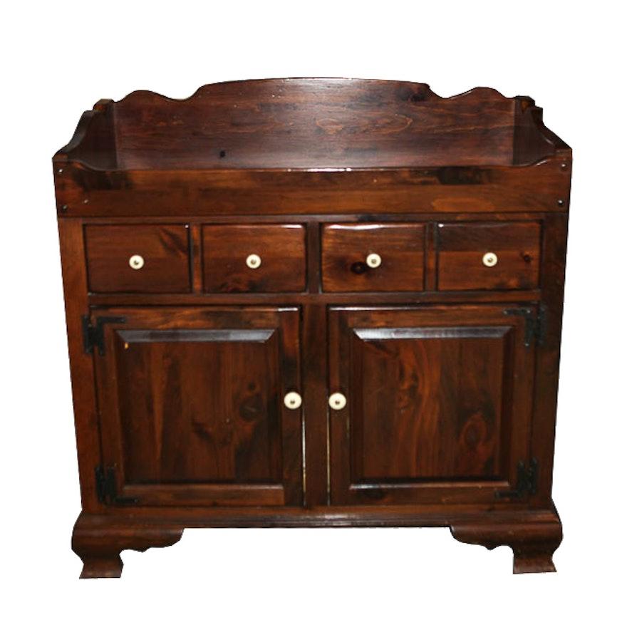 Vintage Ethan Allen Pine Dry Sink ... - Vintage Ethan Allen Pine Dry Sink : EBTH