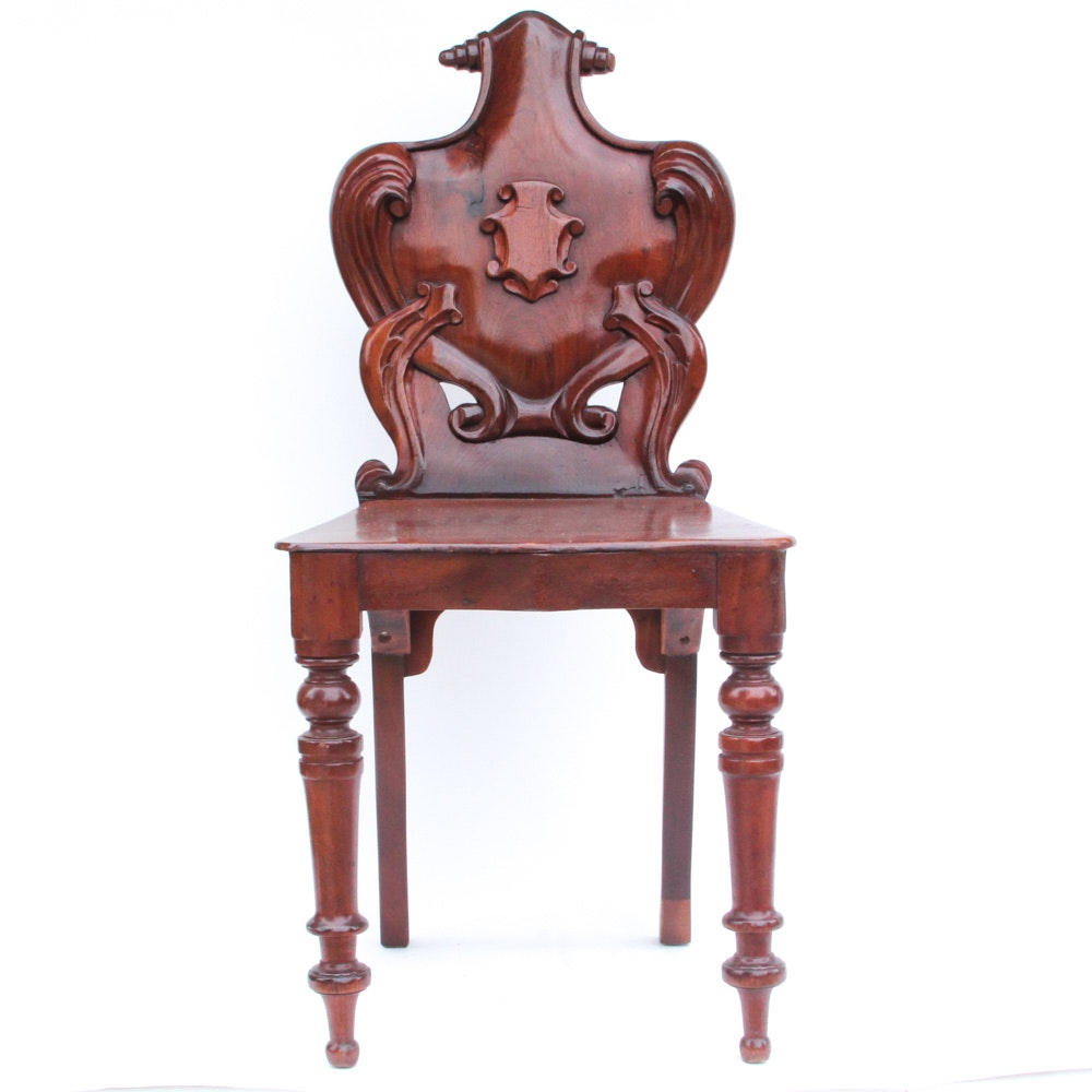 Carved Shield Back Chair