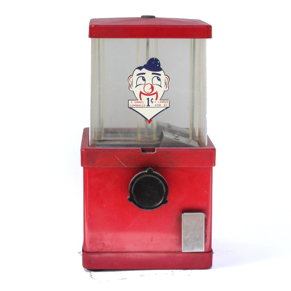 Vintage Gum Ball Dispenser