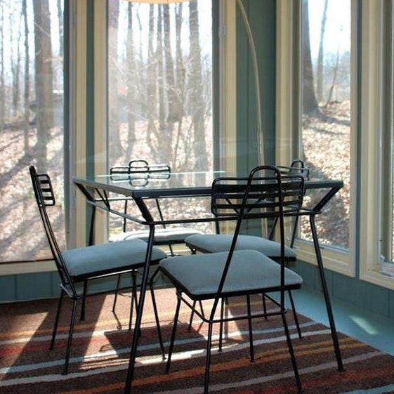 Vintage Mid Century Modern Metal Table and Chairs
