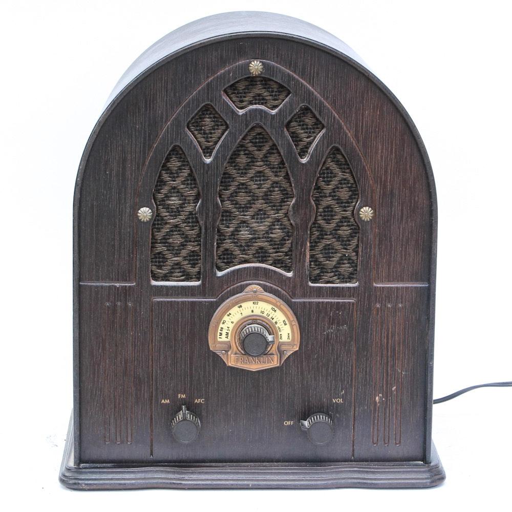 Vintage Franklin Radio Corporation Model C-101 Cathedral Style Replica Radio