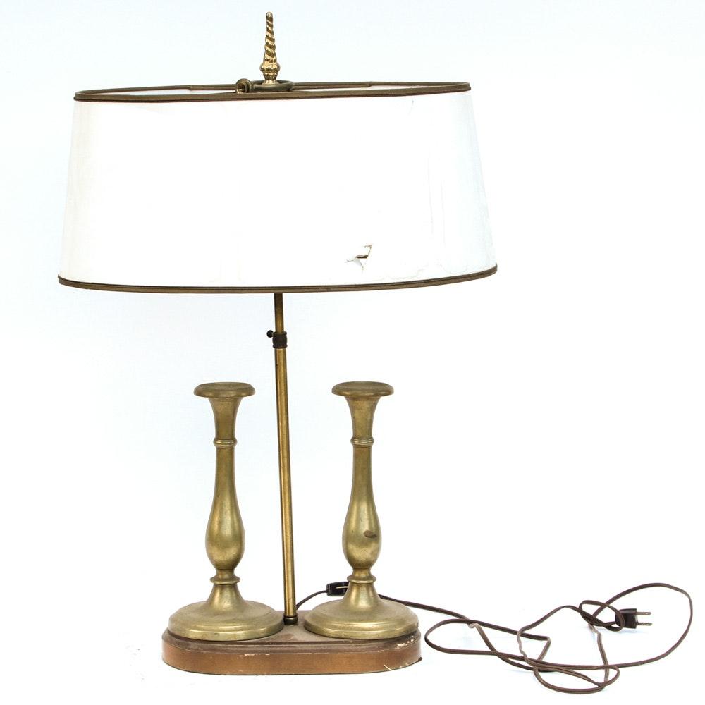 Vintage Brass Vasiform Table Lamp