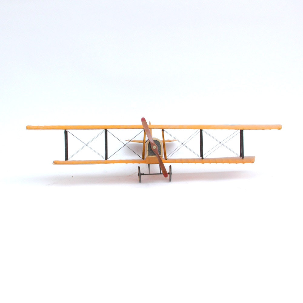 "Curtiss JN-4 ""Jenny"" Wooden Model Bi-Plane"