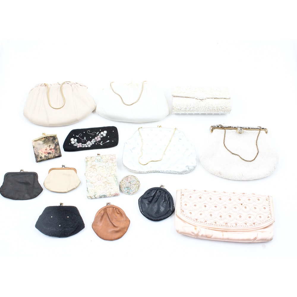 Vintage Bead, Satin and Leather Handbags