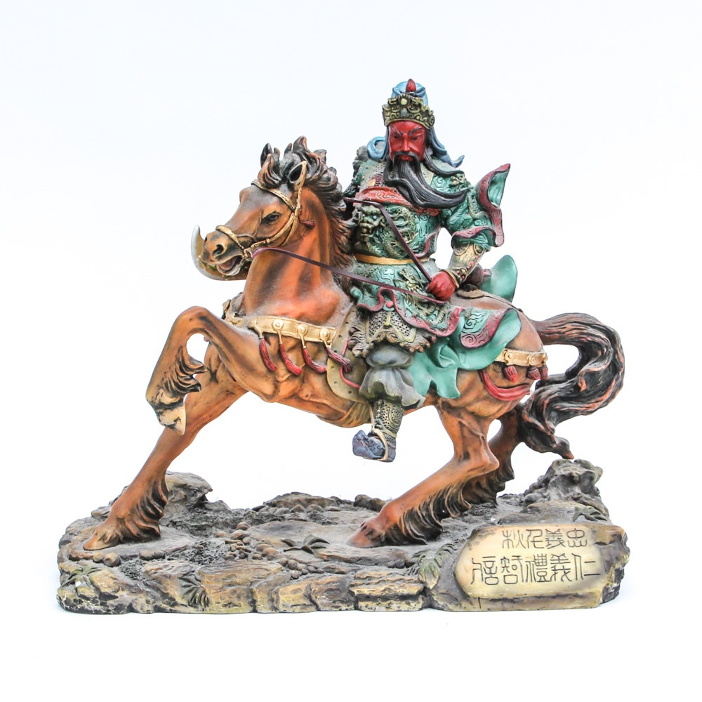Chinese Warrior with Horse Figurine from Comego