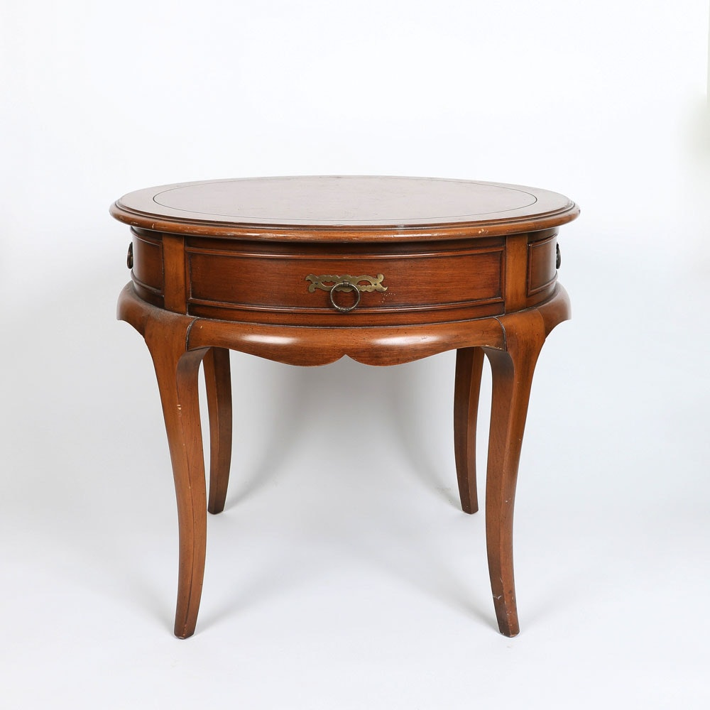 Vintage Walnut Side Table by Hekman