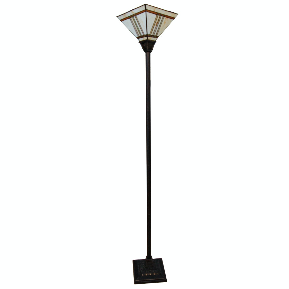 Torchiere Stained Glass Floor Lamp
