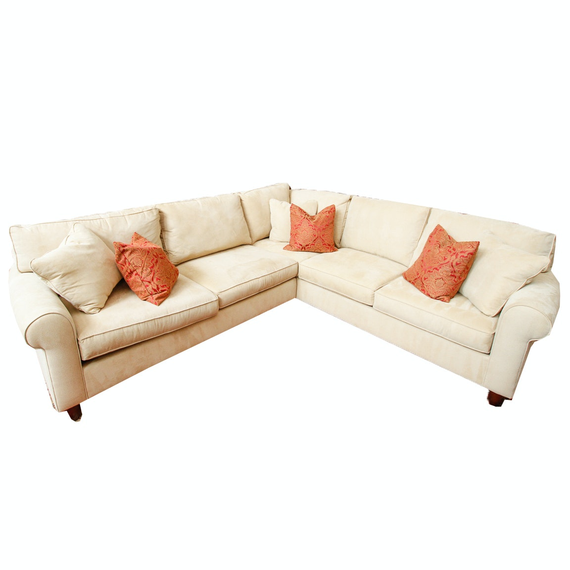 Cream Sectional Sofa by Havertys