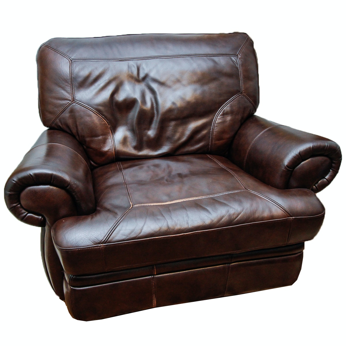 Bonded Leather Reclining Armchair
