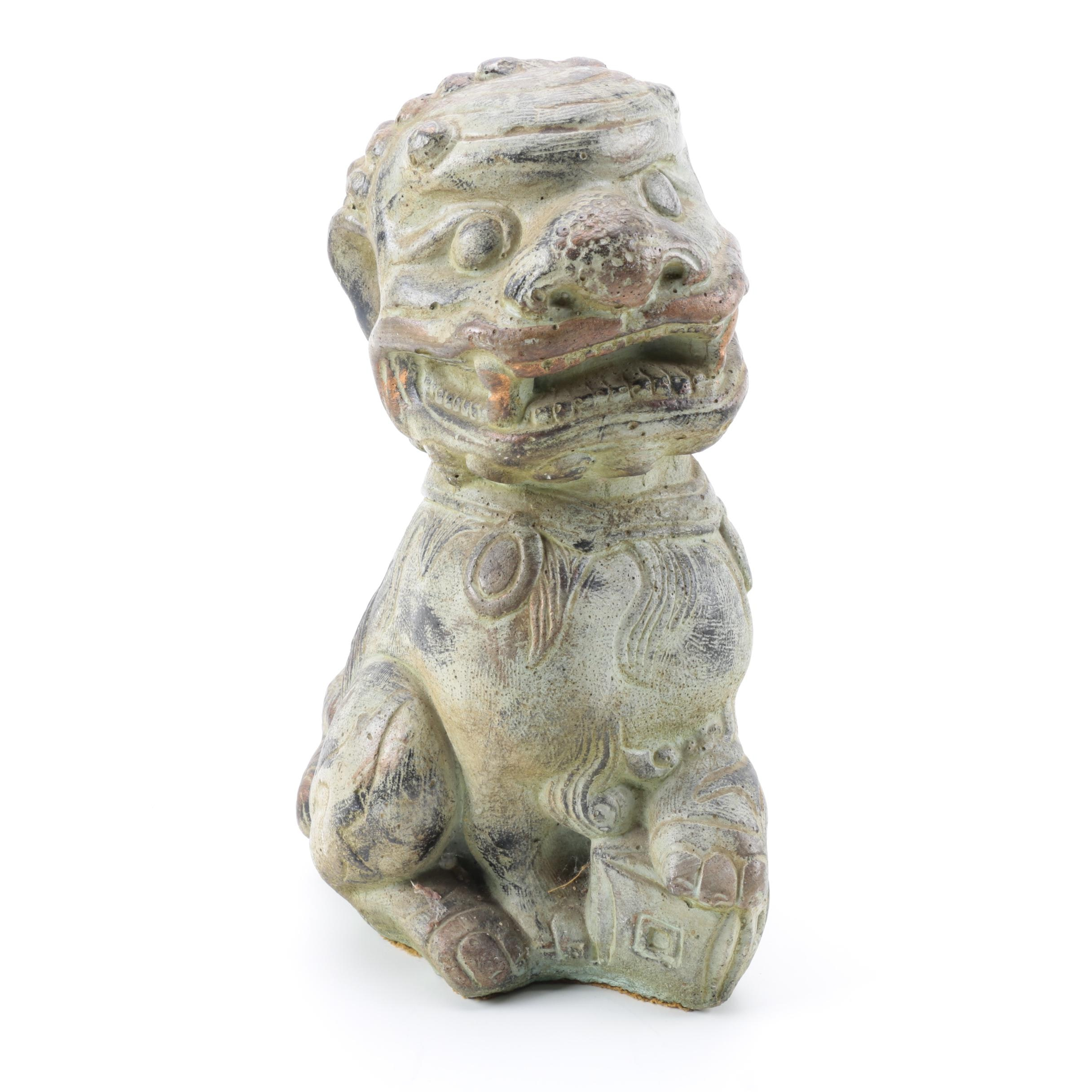 Chinese Ceramic Guardian Lion