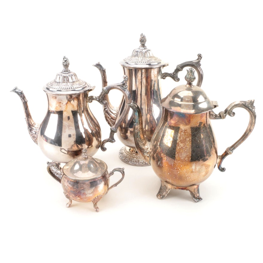 Wm. Rogers and Leonard Silver Plate Tea and Coffee Service Pieces : EBTH