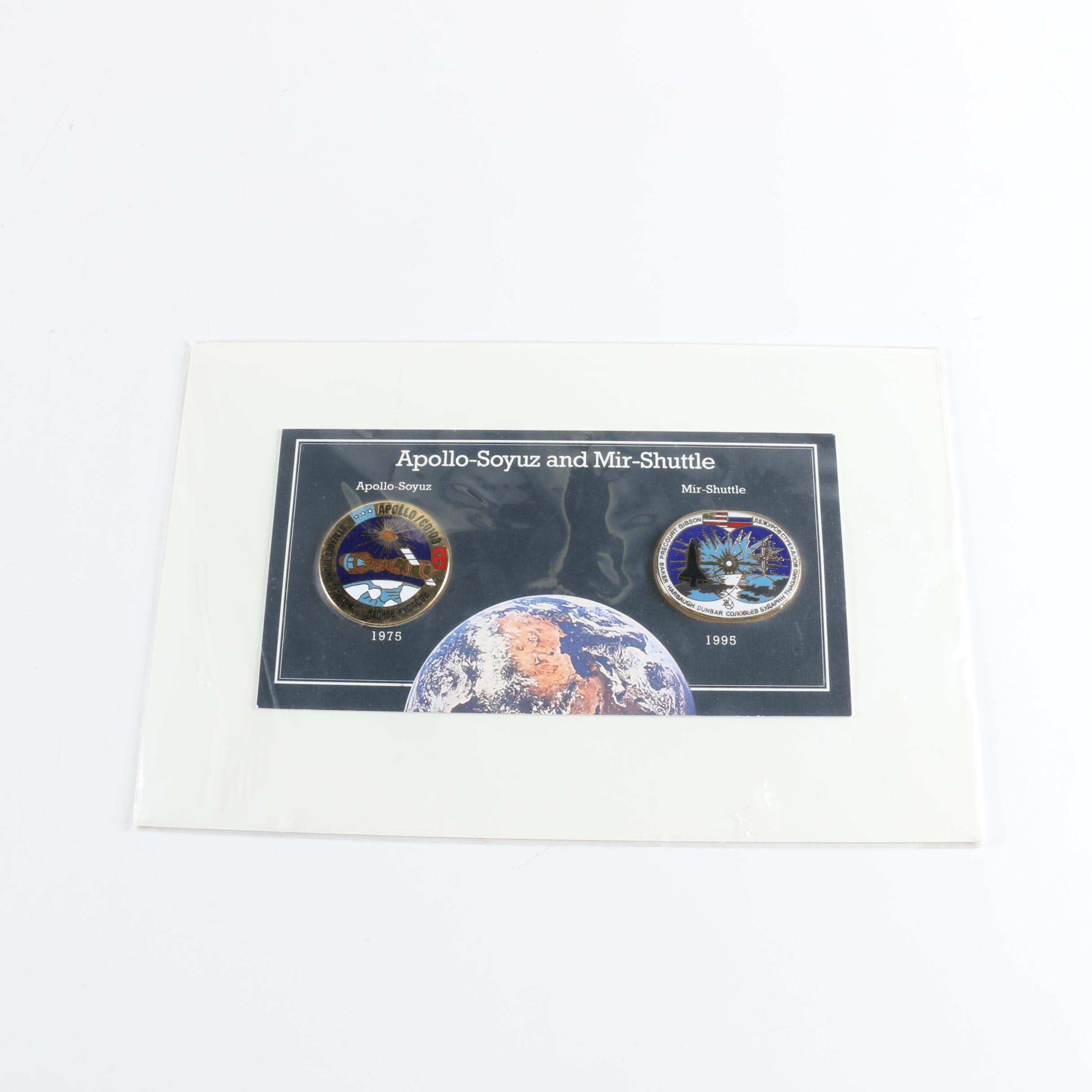 Commemorative US/Russia Space Flight Medals