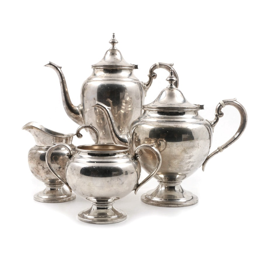 1966 Gorham Sterling Silver Coffee And Tea Service