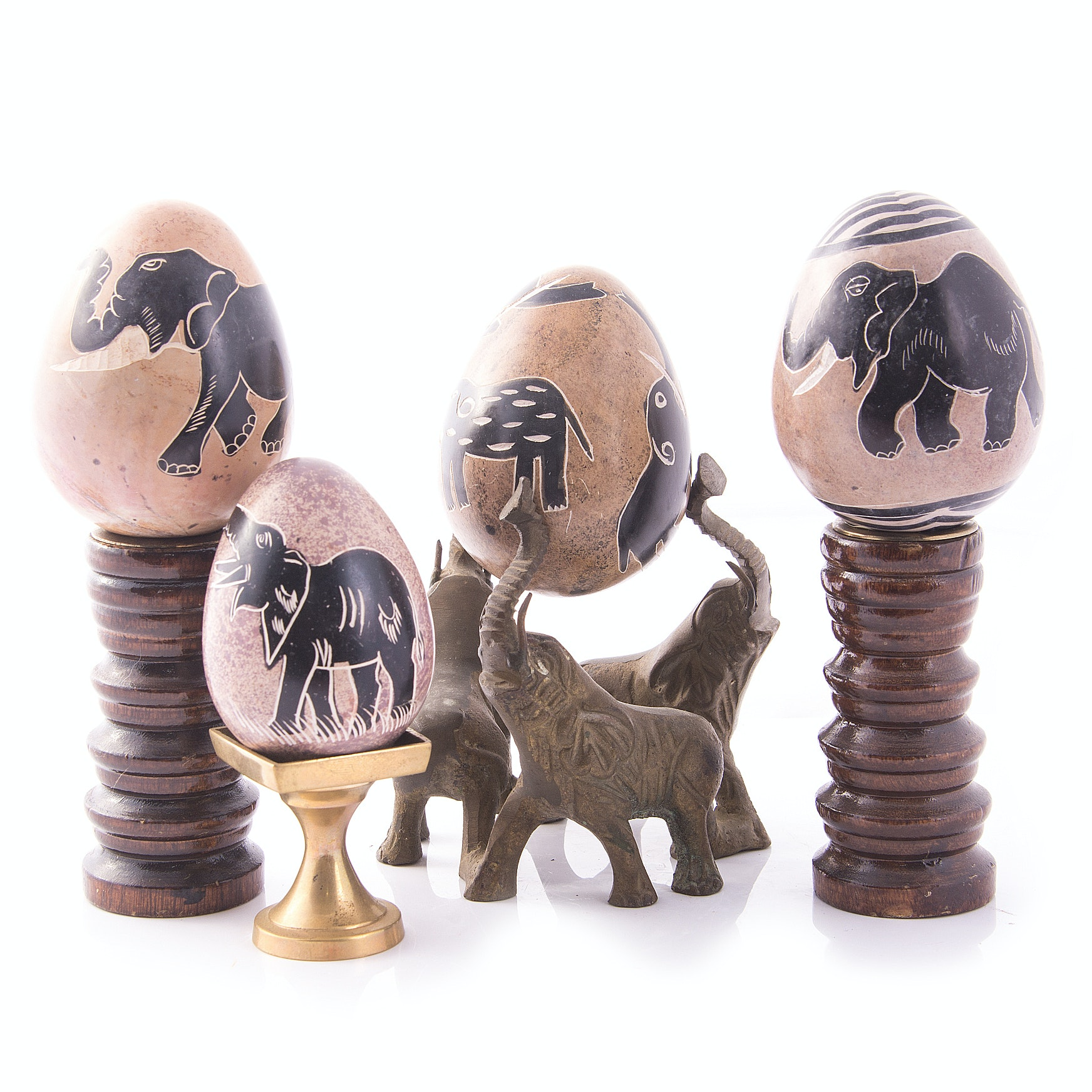 Hand Carved Stone Eggs