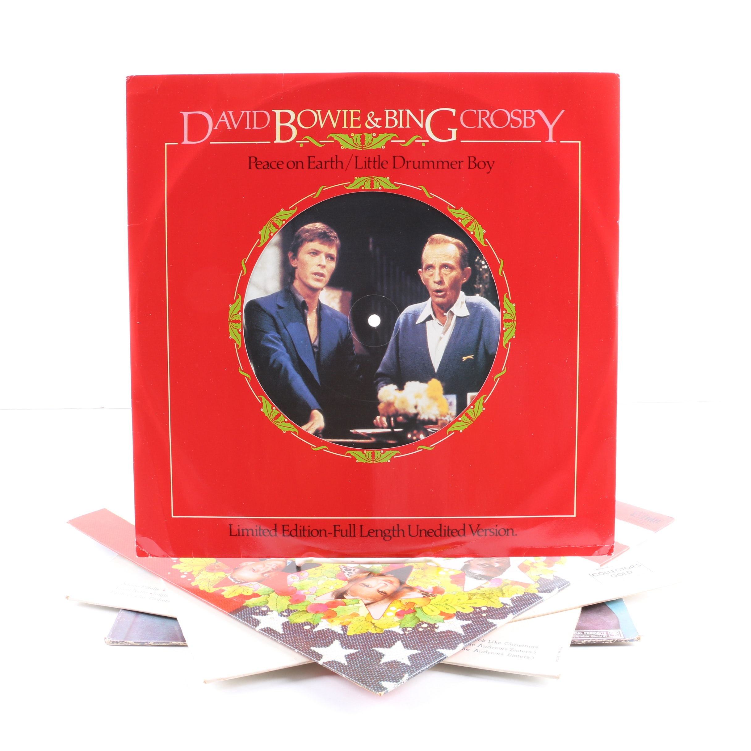 """Bing Crosby Christmas LPs Including """"Little Drummer Boy"""" With David Bowie"""