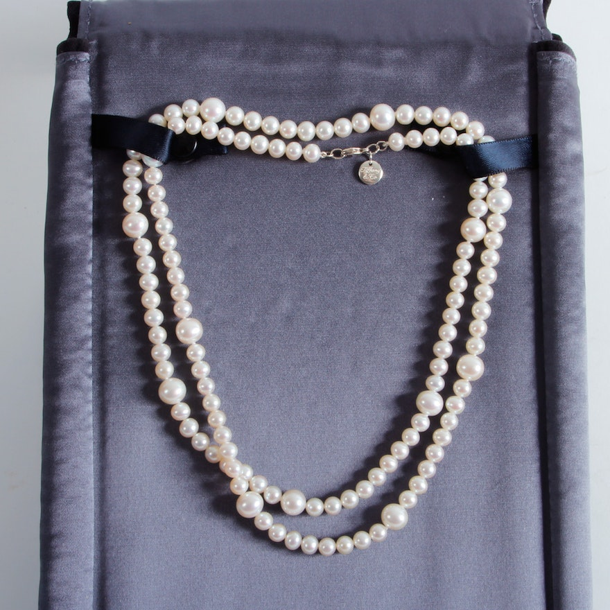 bbf86f03d Tiffany and Co. 940 Silver Cultured Pearl Necklace : EBTH