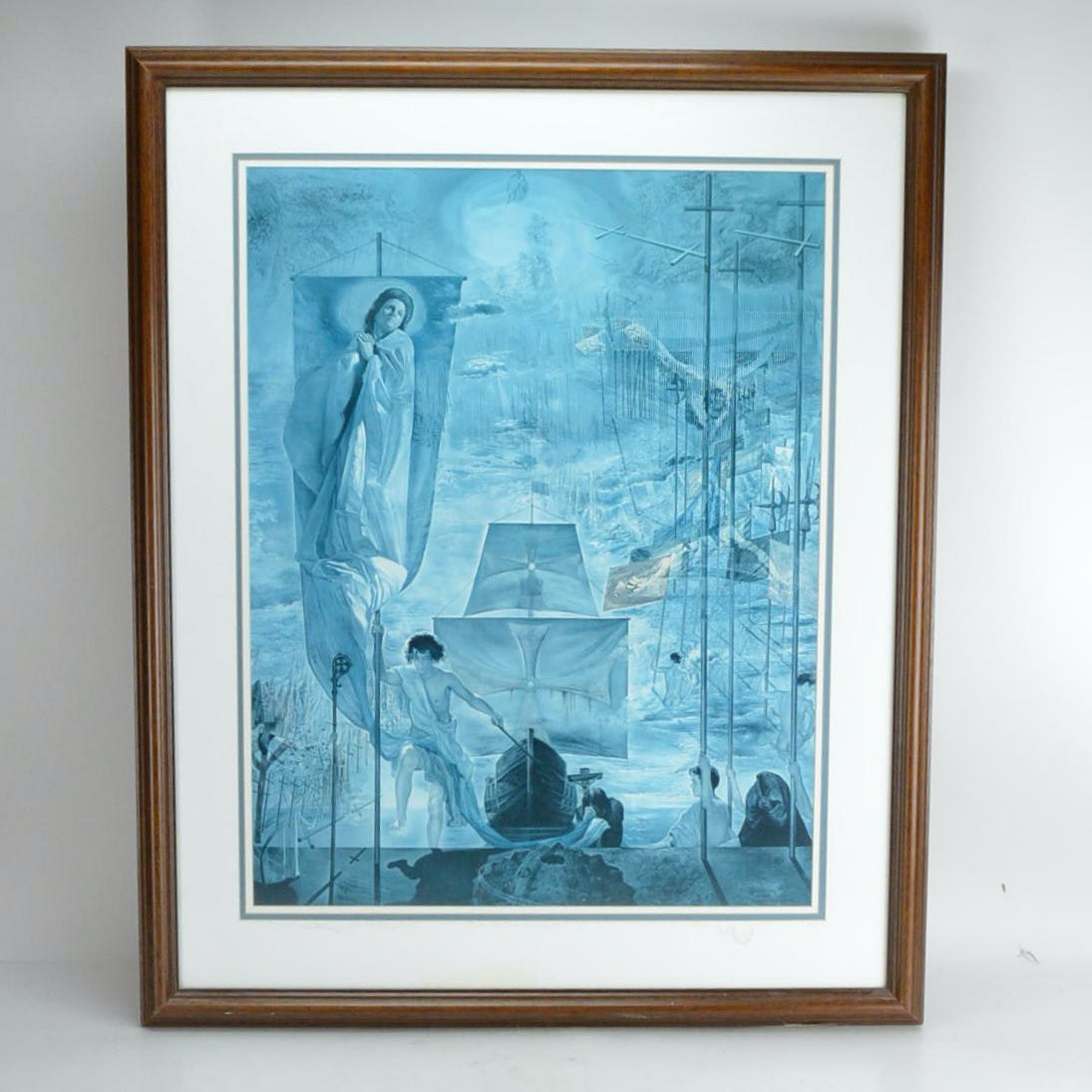 """Offset Lithograph After Salvador Dalí's """"Columbus Discovering America"""""""