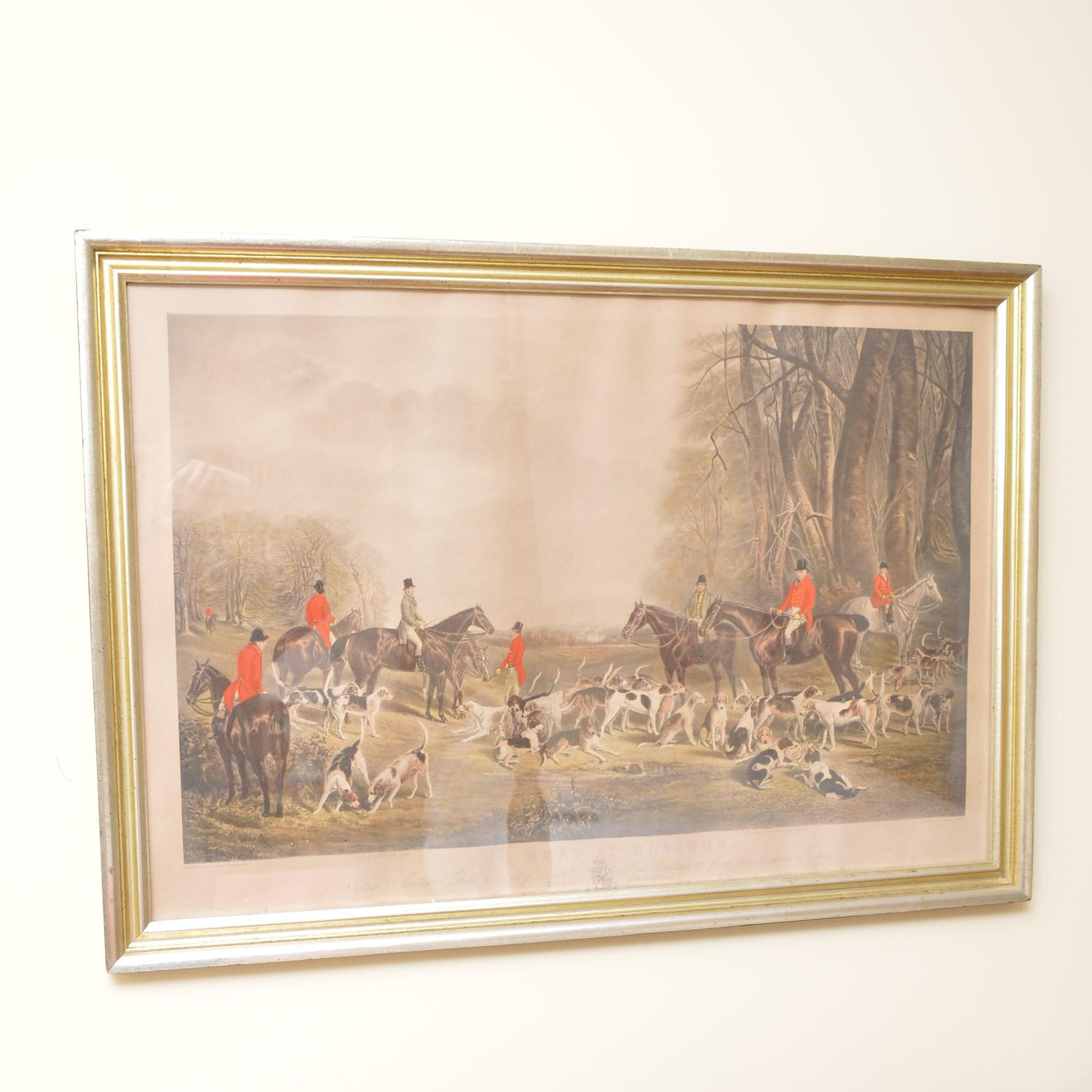 """Reproduction Print on Paper After Thomas Lurton """"The Meet at Blagdon"""""""