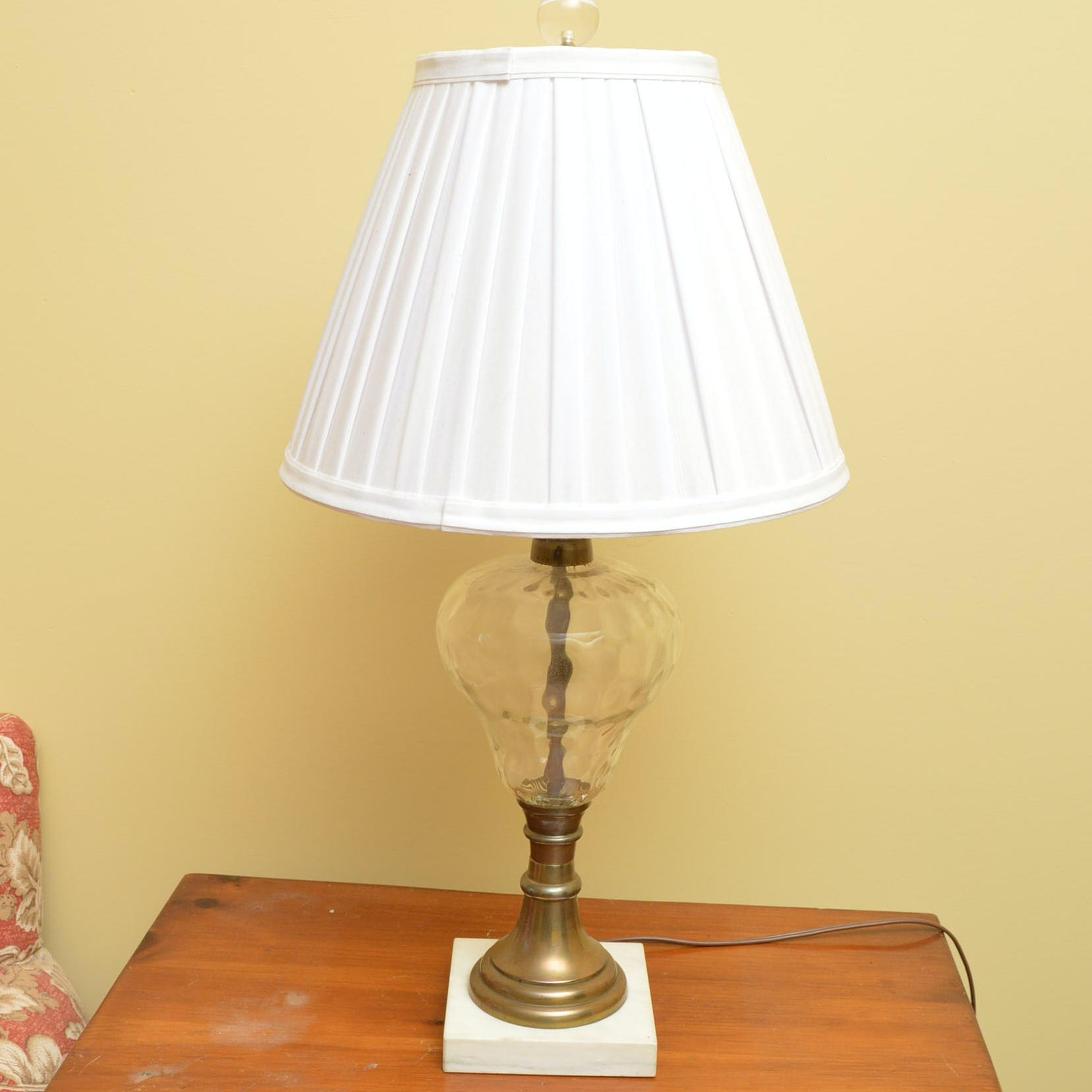 Urn Shaped Glass Table Lamp