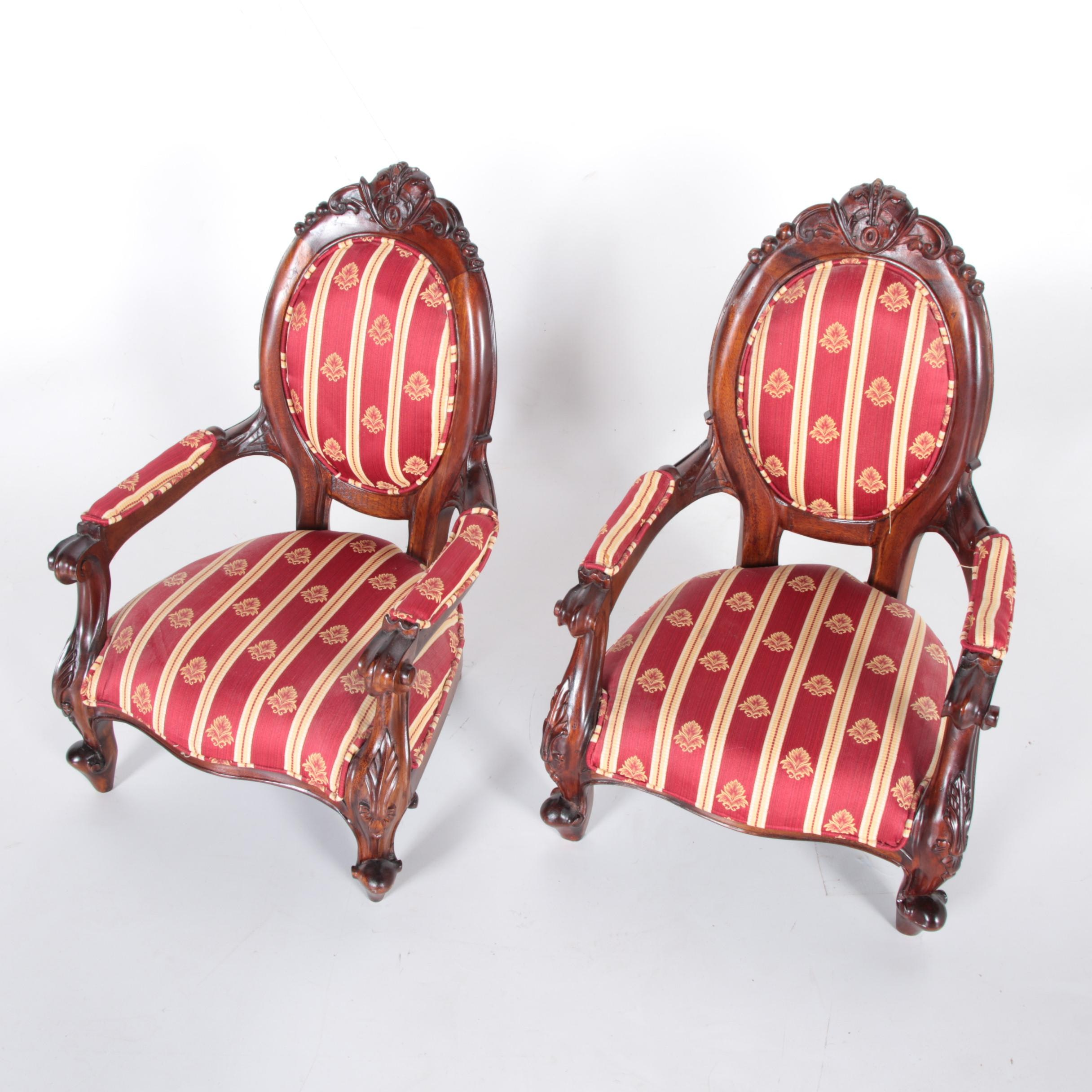 Pair of Louis XV Style Children's Chairs