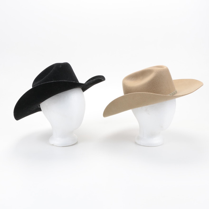 c541501f942 Wool Cowboy Hats by Justin and Resistol   EBTH