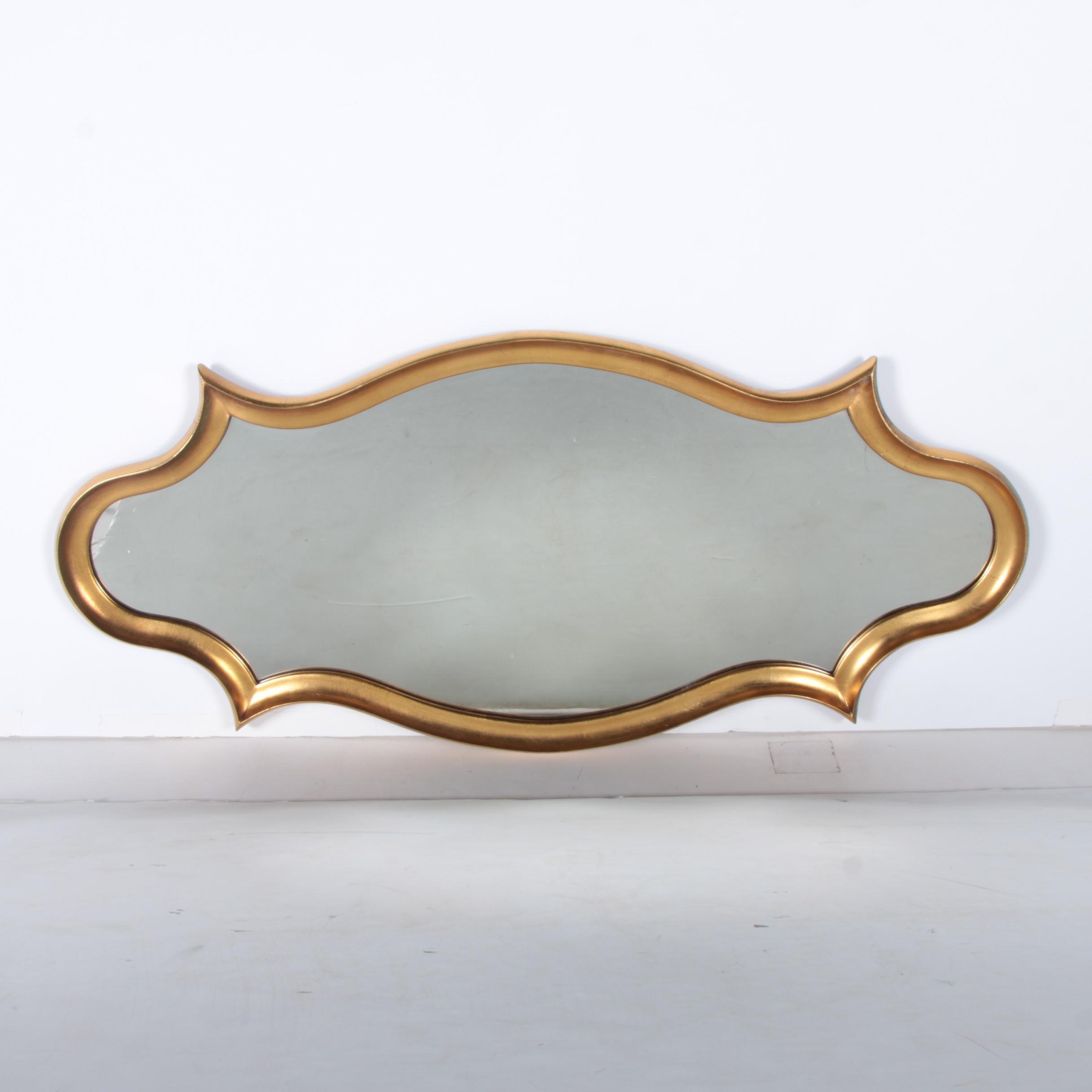Venetian Style Wood Framed Wall Mirror