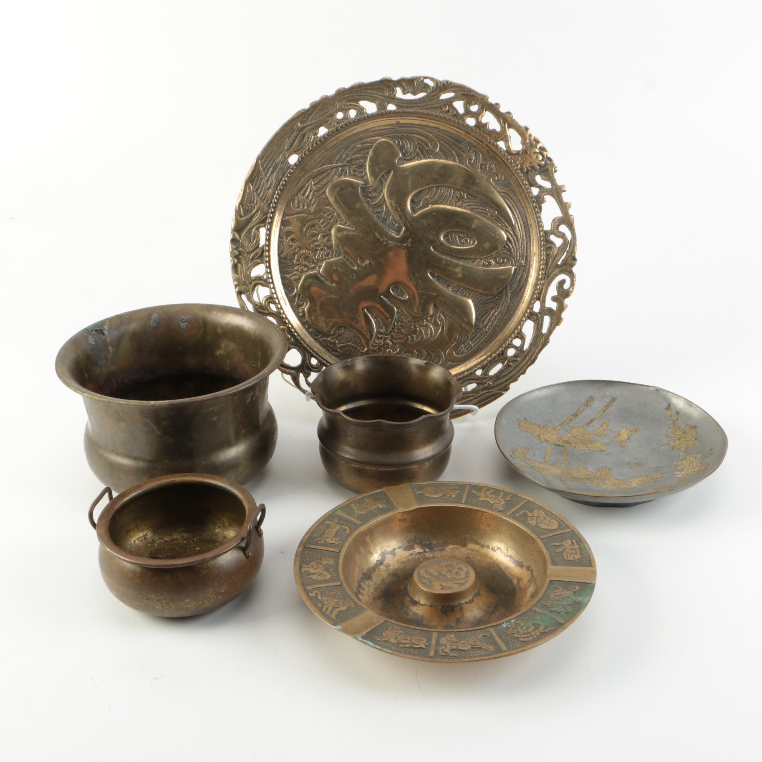 Asian Influenced Brass Decor