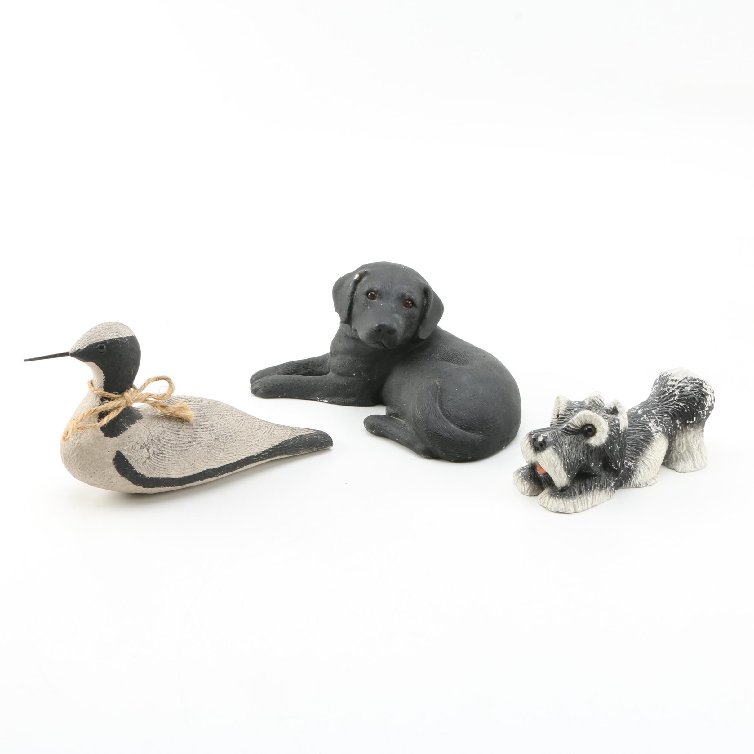 Three Ceramic Animal Themed Figurines