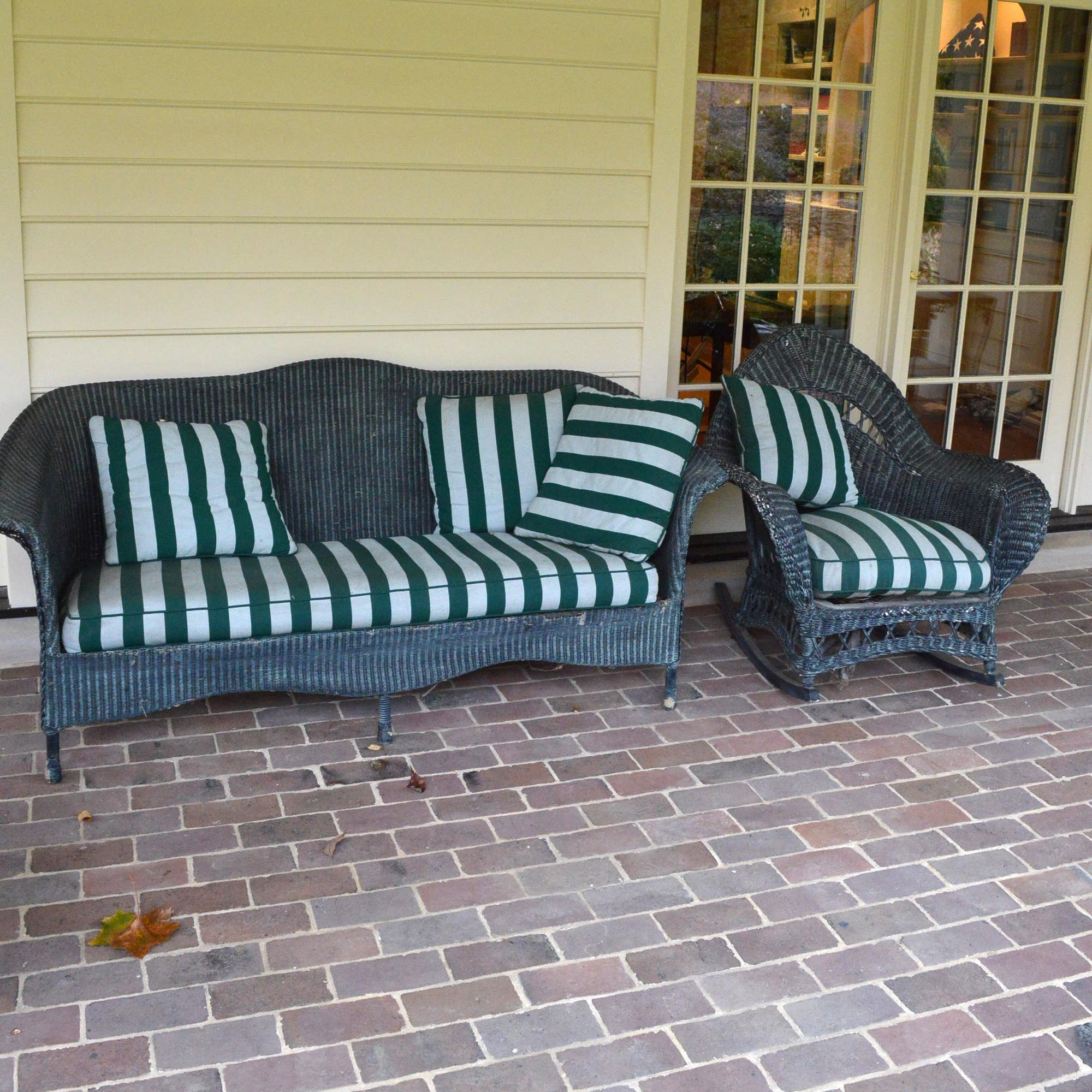 Wicker Weave Patio Rocking Chair and Sofa