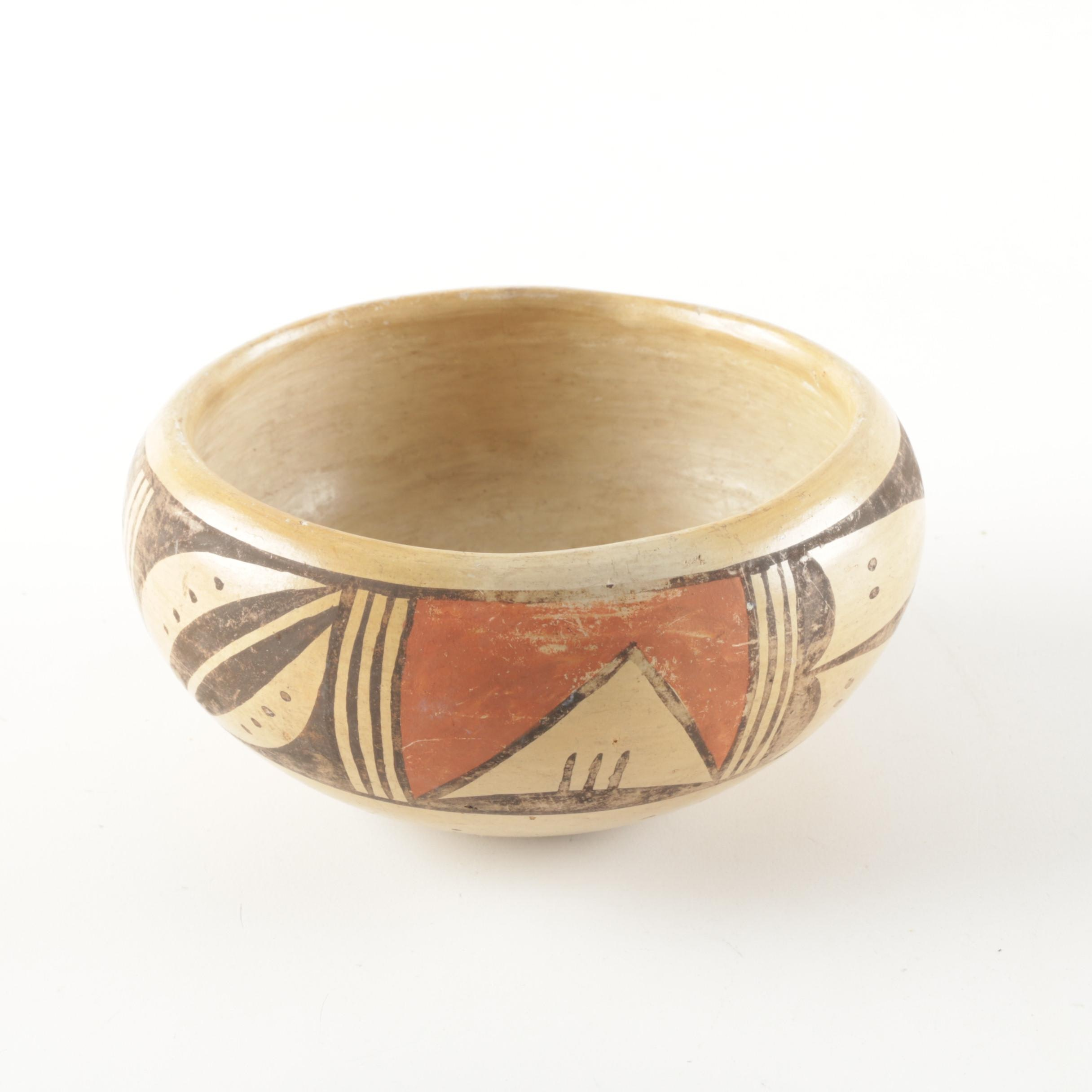 Vintage Hopi Native American Pottery Bowl