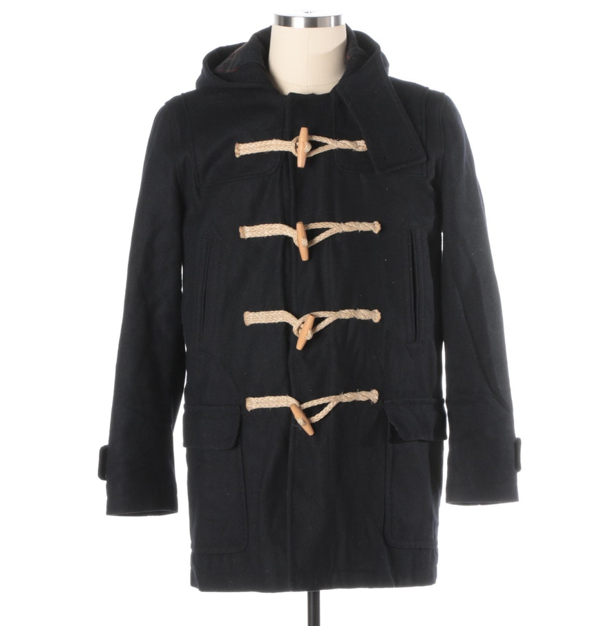 Men's American Eagle Outfitters Duffle Coat with Hood and Toggle ...