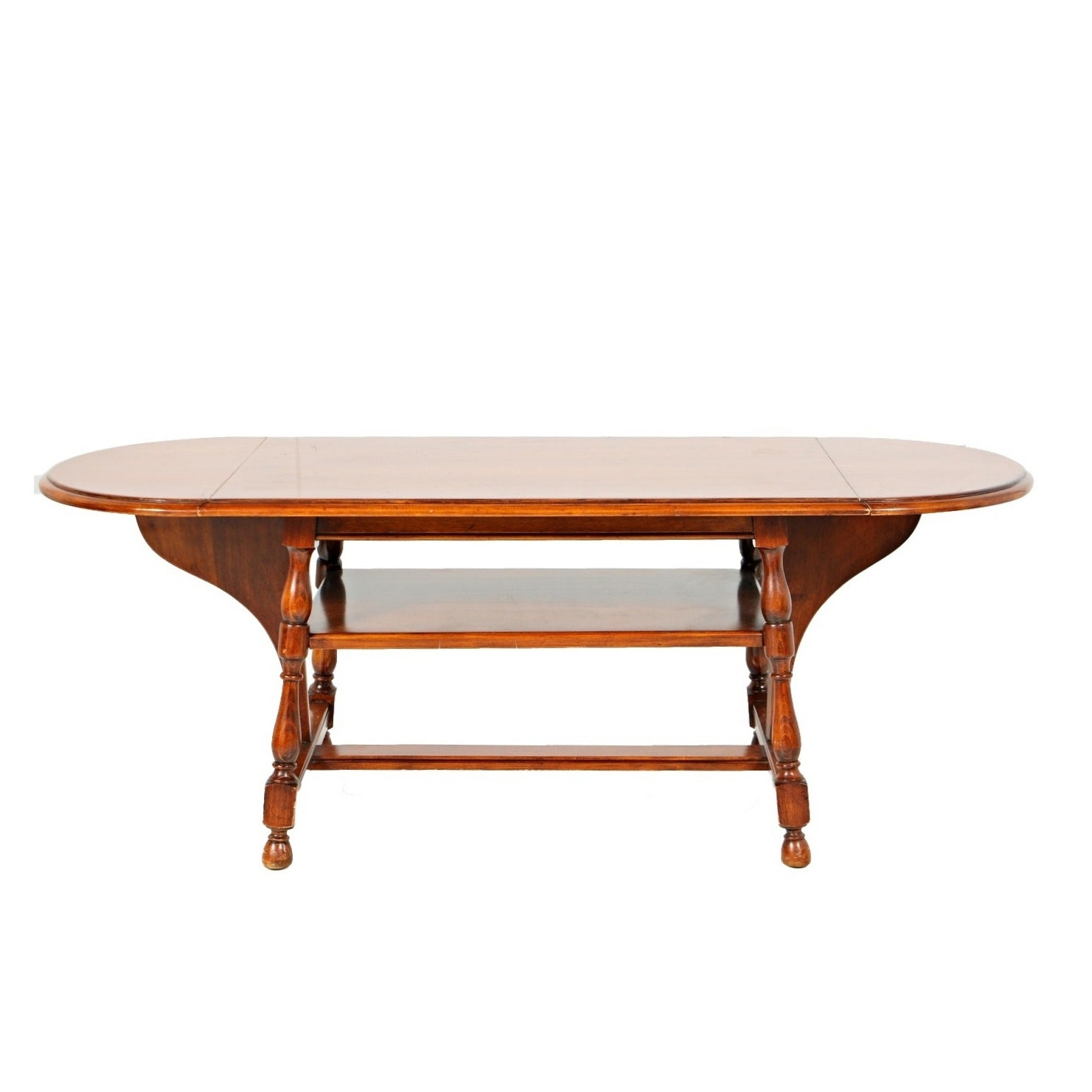 Vintage William and Mary Style Coffee Table with Drop Leaves
